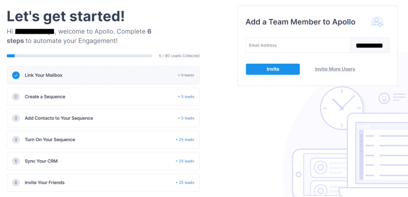 Onboarding step by step