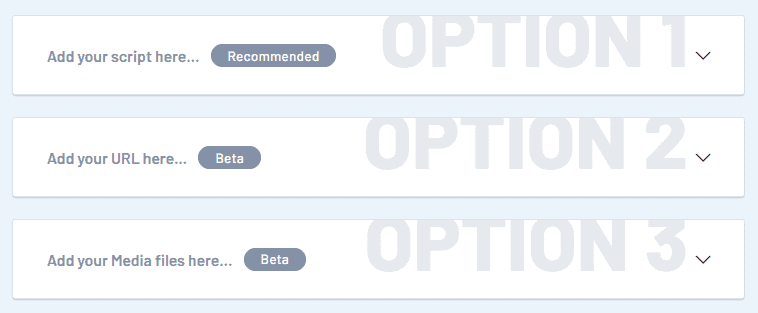 Text to speech feature invideo.io