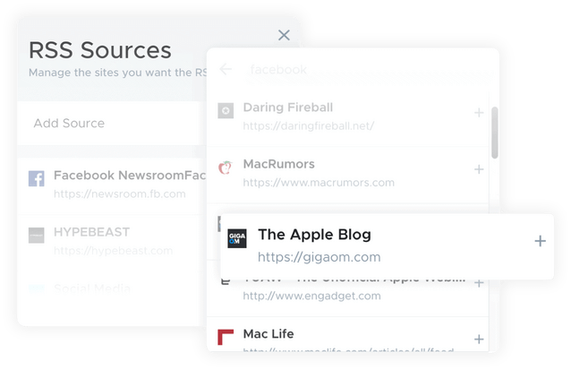RSS feed into crowdfire