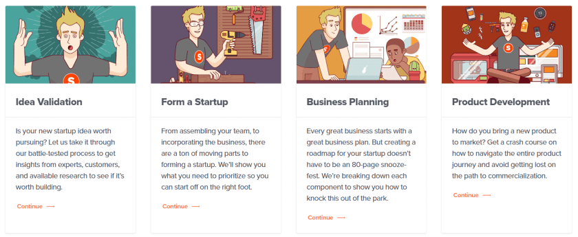 Startups courses