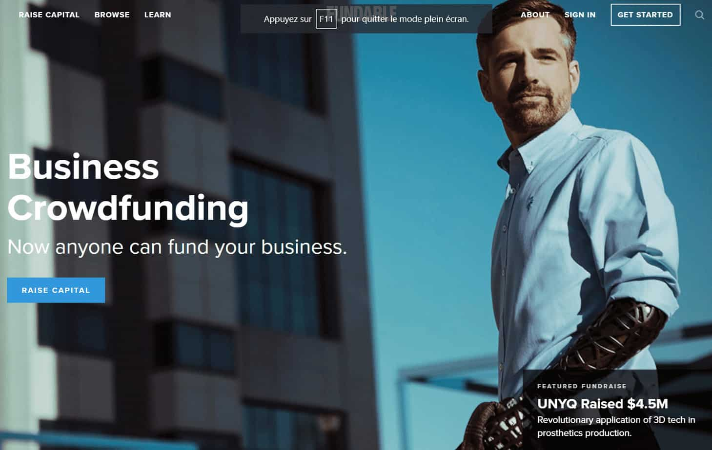 Business crowdfunding fundable