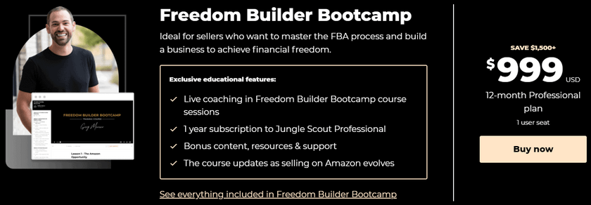 Freedom builder bootcamp pricing