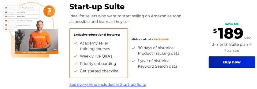 startup suite package pricing